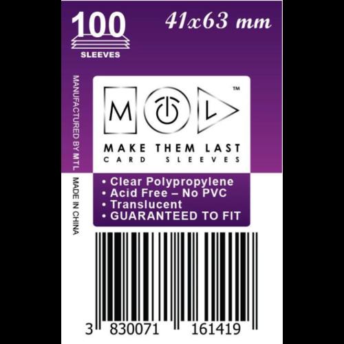 MTL 41x63 mm standard kártyavédő 100db - kicsi lila