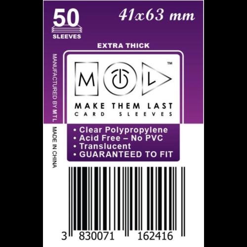 MTL 41x63 mm premium kártyavédő 50db - kicsi lila