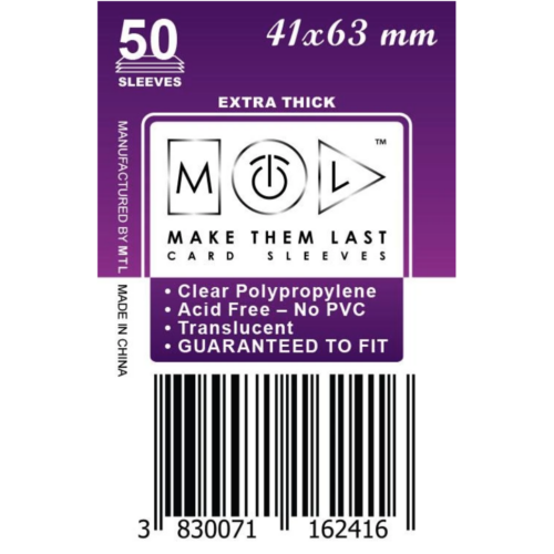 MTL 41x63 mm premium kártyavédő