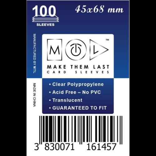 MTL 45x68 mm standard kártyavédő 100db - sötétkék