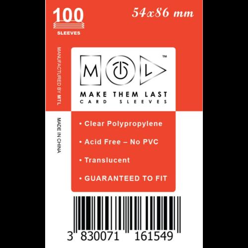 MTL 54x86 mm standard kártyavédő 100db - kicsi piros