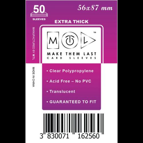 MTL 56x87 mm premium kártyavédő 50db - nagy lila