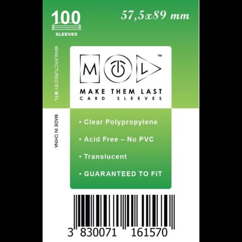 MTL 57,5x89 mm standard kártyavédő 100db - zöld