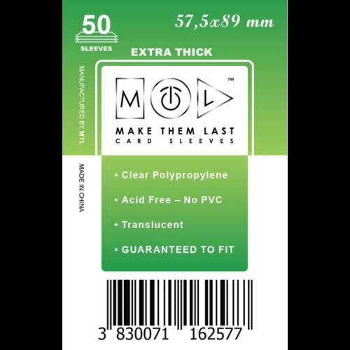 MTL 57,5x89 mm premium kártyavédő 50db - zöld