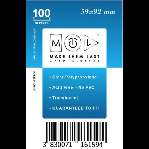 MTL 59x92 mm standard kártyavédő 100db - kék