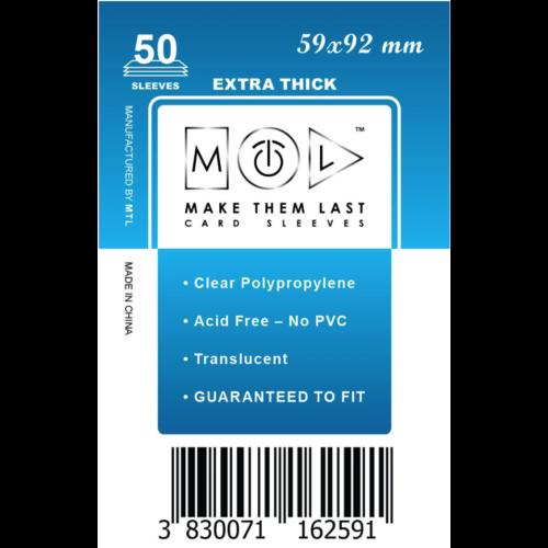 MTL 59x92 mm premium kártyavédő 50db - kék