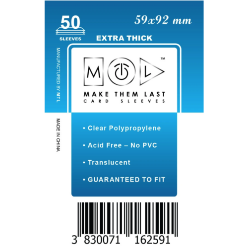 MTL 59x92 mm premium kártyavédő