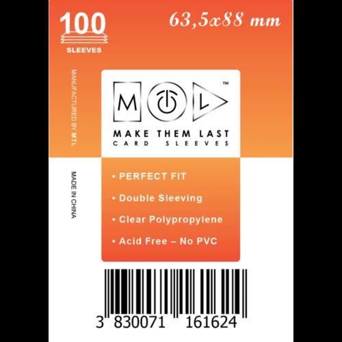 MTL 63,5x88 mm standard kártyavédő 100db - narancs