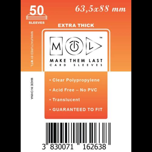 MTL 63,5x88 mm premium kártyavédő 50db - narancs