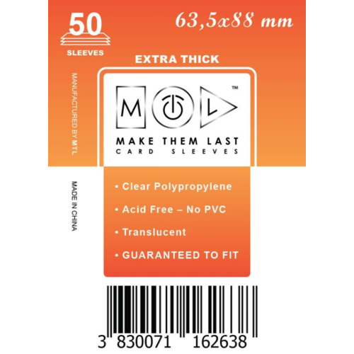 MTL 63,5x88 mm premium kártyavédő