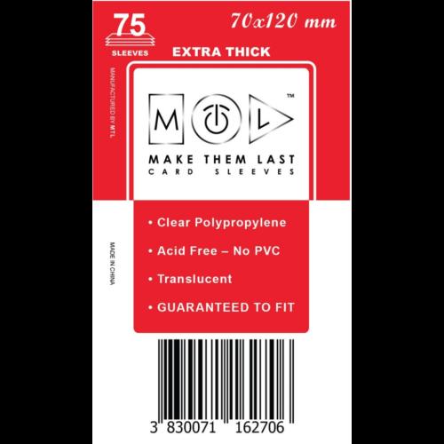 MTL 70x120 mm premium kártyavédő 75db - nagy piros