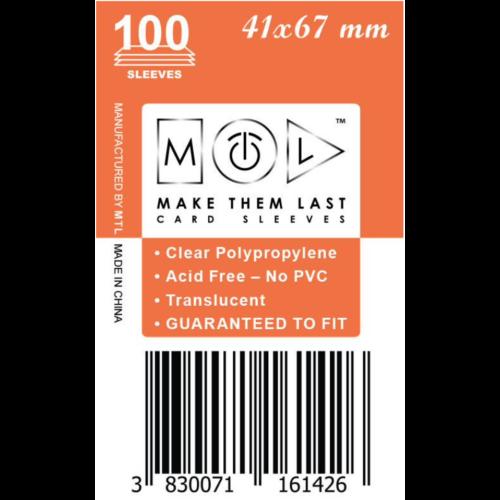 MTL 41x67 mm standard kártyavédő 100db - bronz