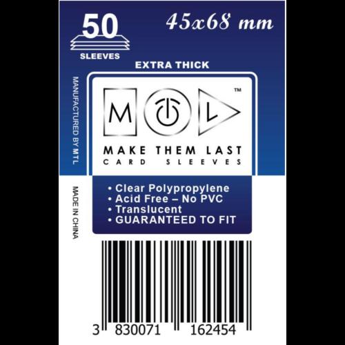 MTL 45x68 mm premium kártyavédő 50db - sötétkék