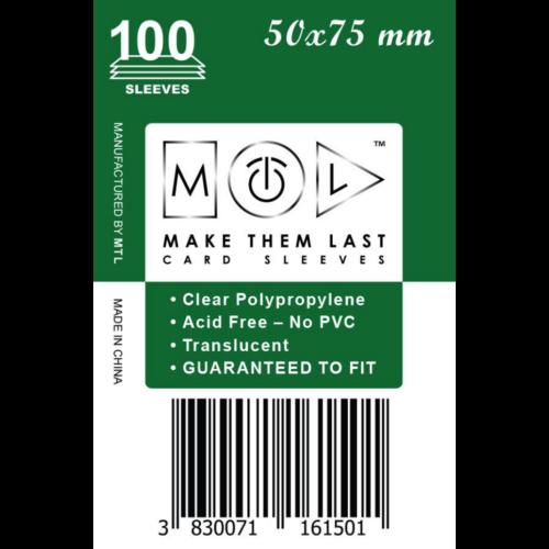 MTL 50x75 mm standard kártyavédő 100db - sötétzöld