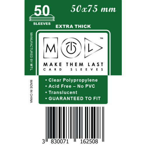 MTL 50x75 mm premium kártyavédő