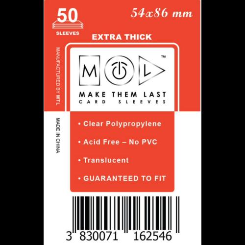 MTL 54x86 mm premium kártyavédő 50db - piros