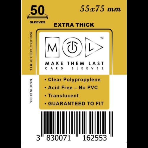 MTL 55x75 mm premium kártyavédő 50db - mustár