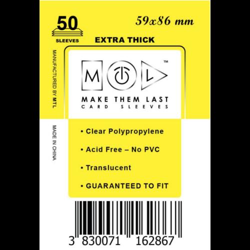 MTL 59x86 mm premium kártyavédő 50db - sárga