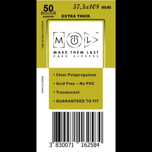 MTL 57,5x108 mm premium kártyavédő 50db - mustár