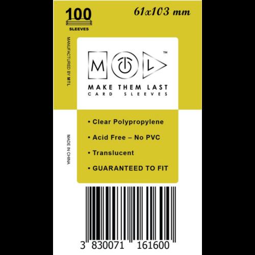 MTL 61x103 mm standard kártyavédő 100db - világos mustár