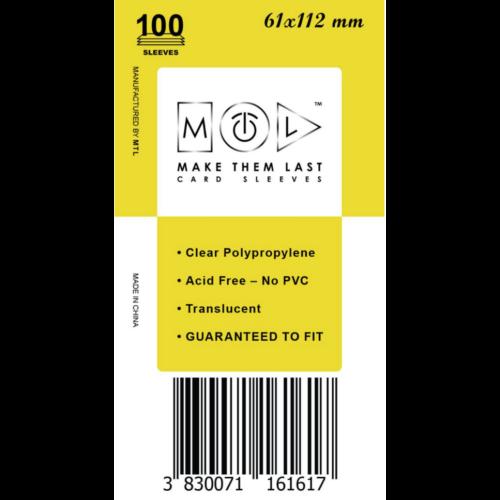 MTL 61x112 mm standard kártyavédő 100db - sárga