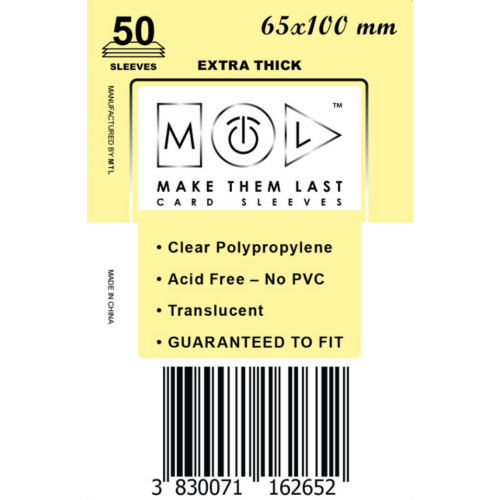 MTL 65x100 mm premium kártyavédő 50db - vanília
