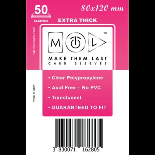MTL 80x120 mm premium kártyavédő 50db - pink