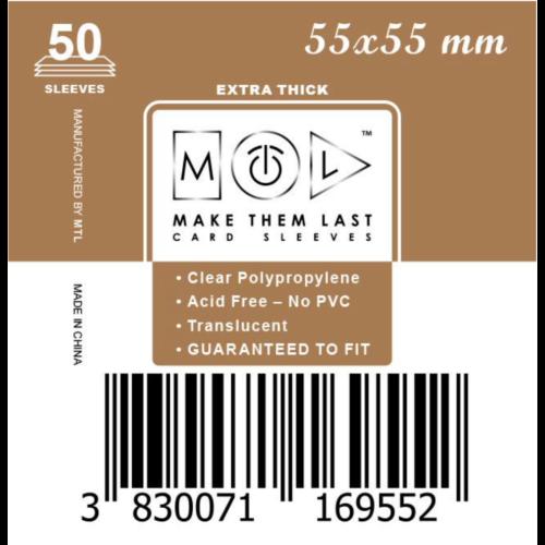 MTL 55x55 mm premium kártyavédő 50db - arany