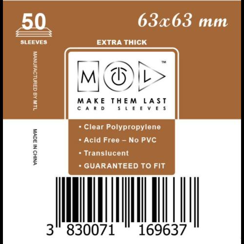 MTL 63x63 mm premium kártyavédő 50db - arany