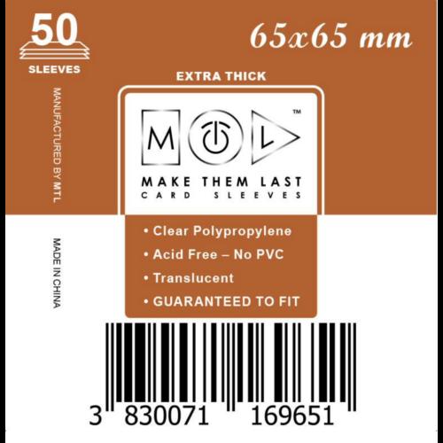 MTL 65x65 mm premium kártyavédő 50db - bronz