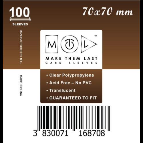 MTL 70x70 mm standard kártyavédő 100db - sötét barna