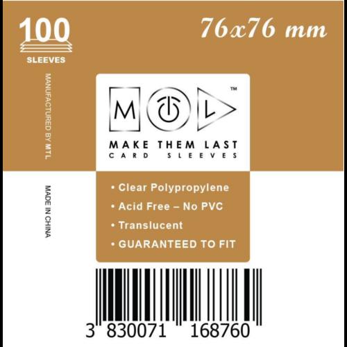 MTL 76x76 mm standard kártyavédő 100db - arany