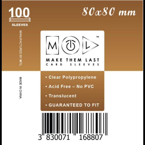 MTL 80x80 mm standard kártyavédő 100db - barna