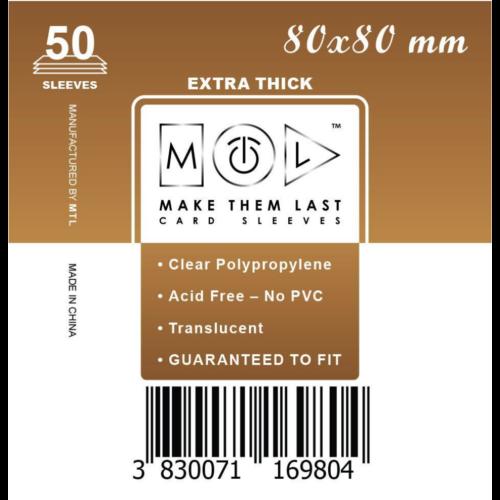 MTL 80x80 mm premium kártyavédő 50db - barna