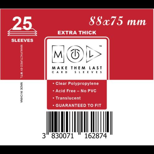 MTL 88x75 mm premium kártyavédő 25db - piros
