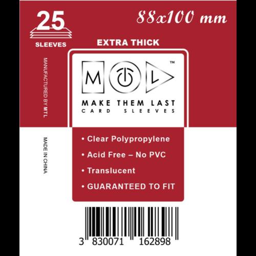 MTL 88x100 mm premium kártyavédő 25db - bordó