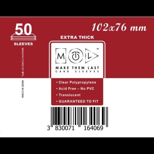 MTL 102x76 mm premium kártyavédő 50db - bordó