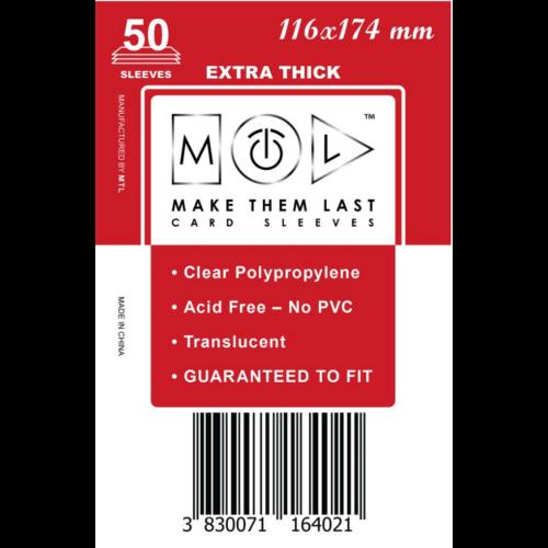 MTL 116x174 mm premium kártyavédő 50db - piros óriás