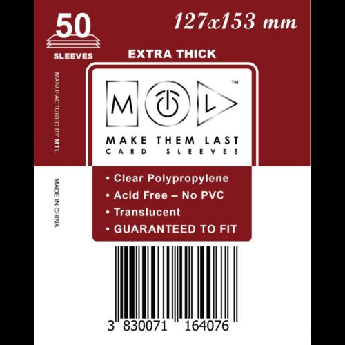 MTL 127x153 mm premium kártyavédő 50db - meggy