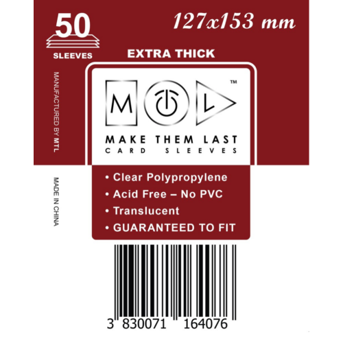 MTL 127x153 mm premium kártyavédő