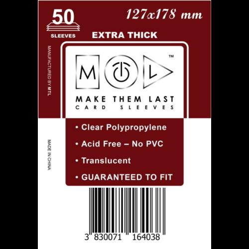 MTL 127x178 mm premium kártyavédő 50db - barna