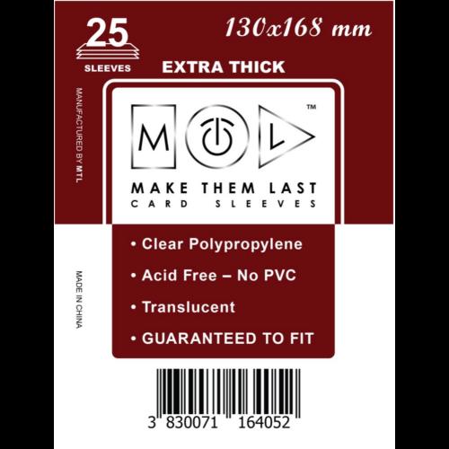 MTL 130x168 mm premium kártyavédő 25db - piros