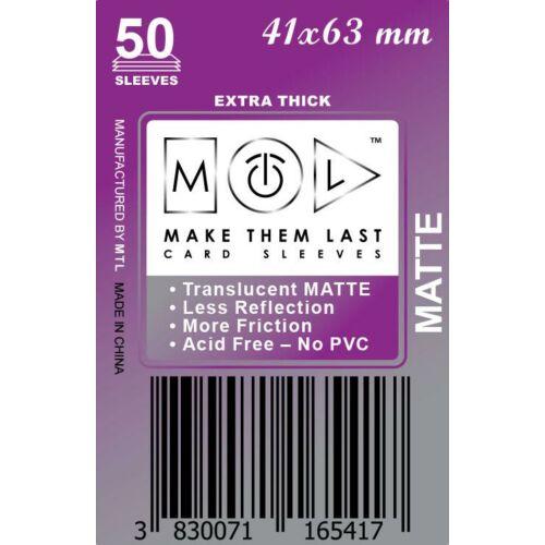 MTL 41x63 mm premium MATT kártyavédő