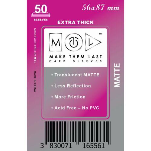 MTL 56x87 mm premium MATT kártyavédő