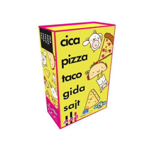 Cica, pizza, taco, gida, sajt társasjáték