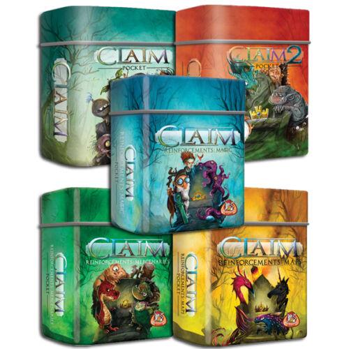 Claim Pocket (angol) ötös csomag társasjáték