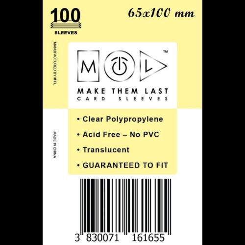 MTL 65x100 mm standard kártyavédő
