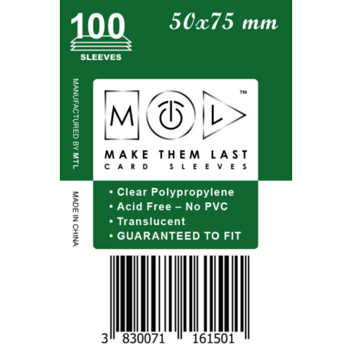 MTL 50x75 mm standard kártyavéd