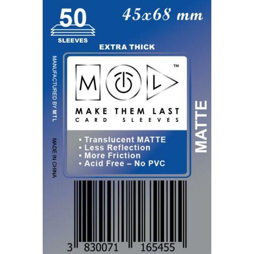 45x68 mm premium MATT kártyavédő