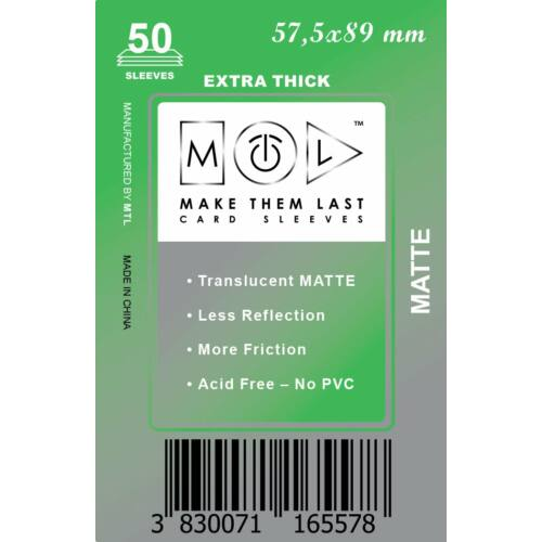 MTL 57,5x89 mm premium MATT kártyavédő